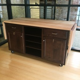 Custom Maple Butcher Block Workstation