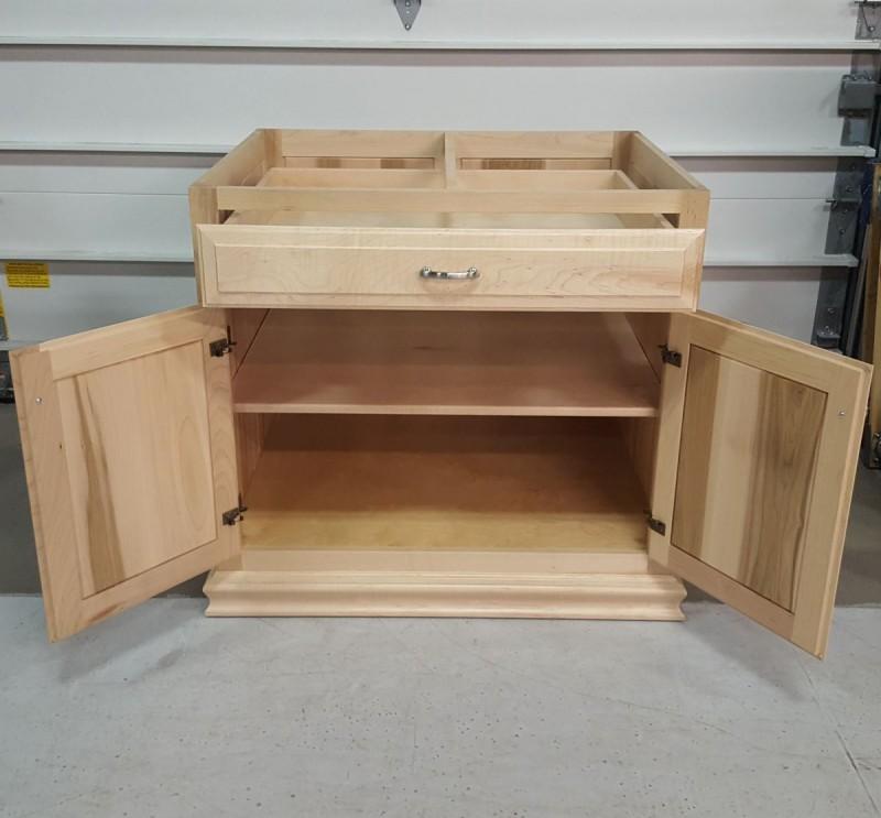 Custom Maple Kitchen Island Base Cabinet