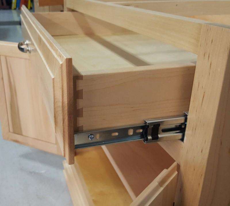 Custom Maple Kitchen Island Base Cabinet| Amish Custom ...