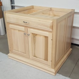 Custom Maple Kitchen Island Base Cabinet