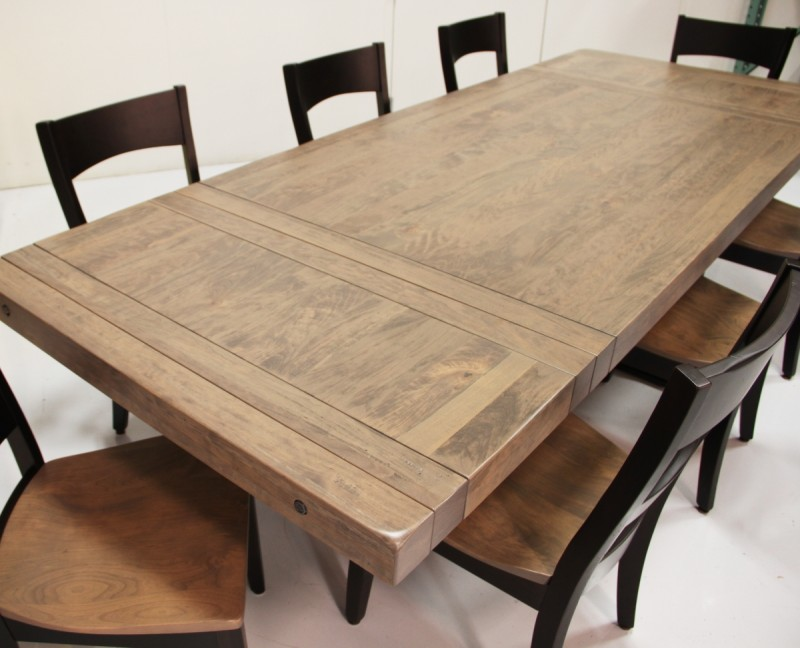 Savannah Table Amish Made Table Solid Cherry Trestle