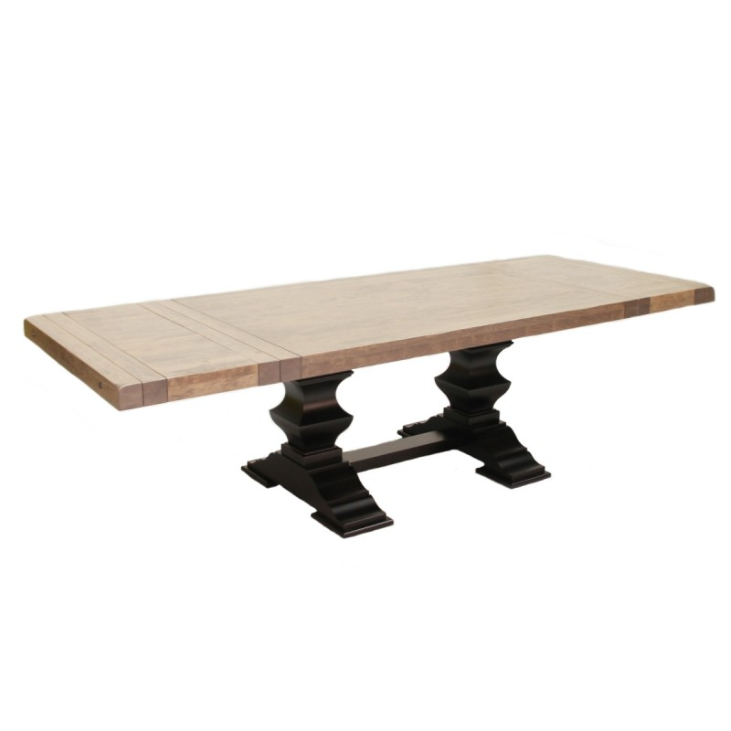 Savannah Table Amish Made Table Solid Cherry Trestle  : 417 545 Savannah Dining Table Extended WEB 800x800 from www.countrylanefurniture.com size 800 x 800 jpeg 32kB