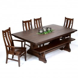 Dining Room Sets - Amish, Handcrafted Solid Wood, Custom-Made ...