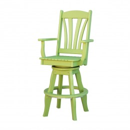 Sunburst Patio Swivel Arm Chair