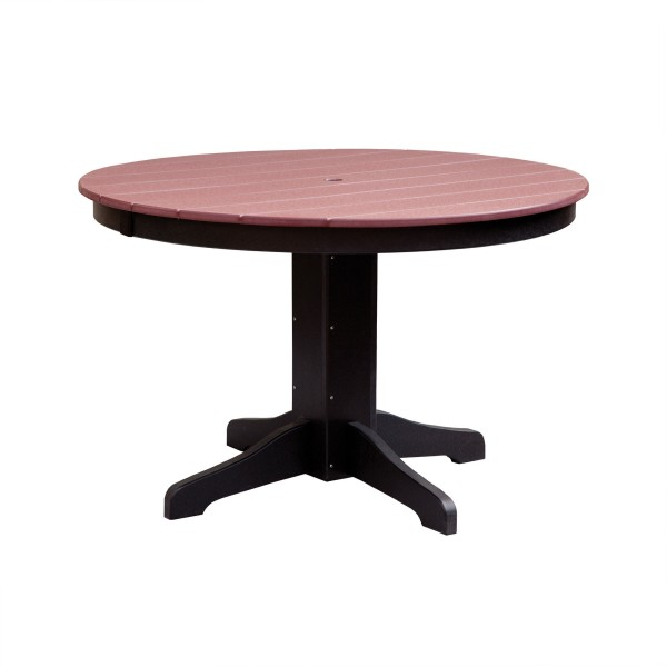 48 quot round dining table pa handcrafted amish made