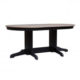 6' Oval Balcony Table
