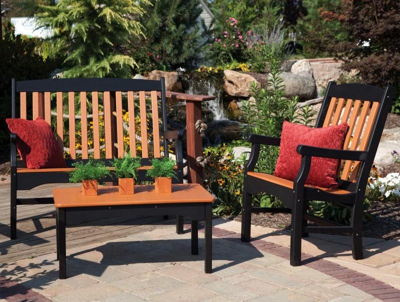 ... Sunnyside 3' Poly Garden Bench ... - Sunnyside 3' Poly Garden Bench PA Amish Made Poly Outdoor