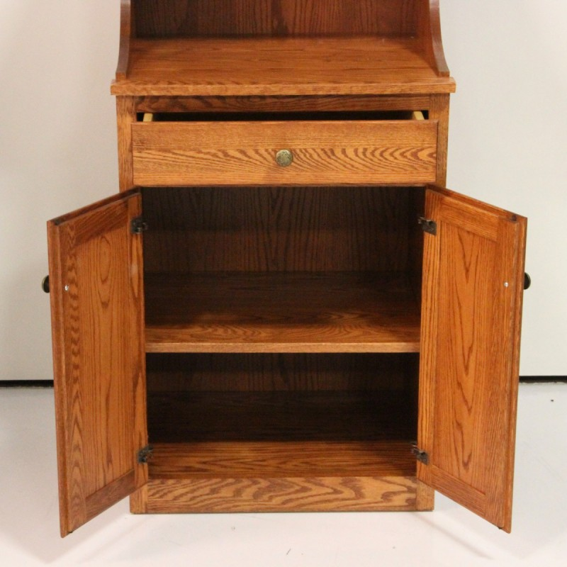 ... Microwave Stand with Hutch ... - Microwave Stand With Hutch - Country Lane Furniture