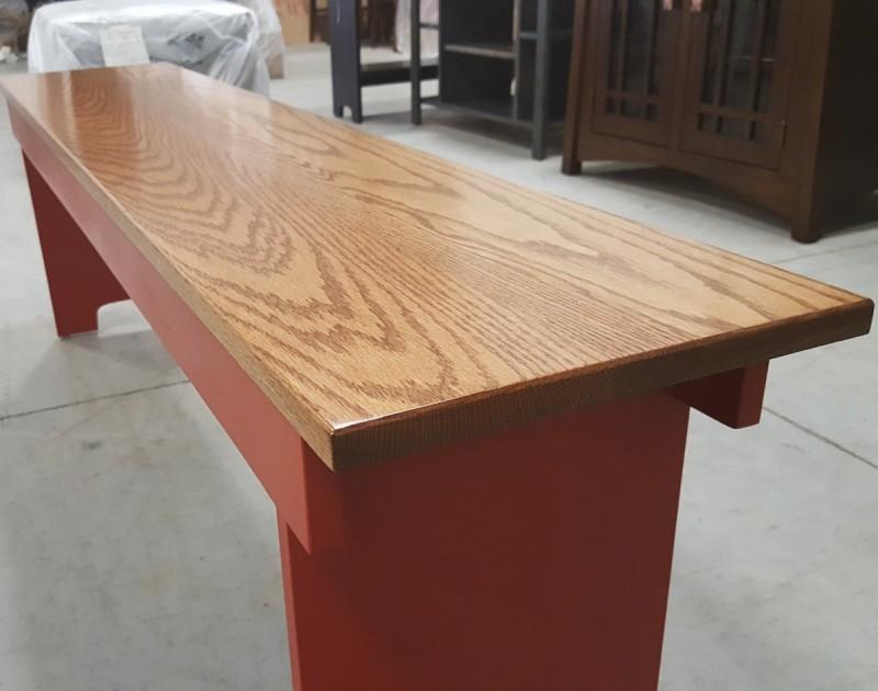 Large 60 Quot Farm Bench Solid Hardwood Bookcase Amish