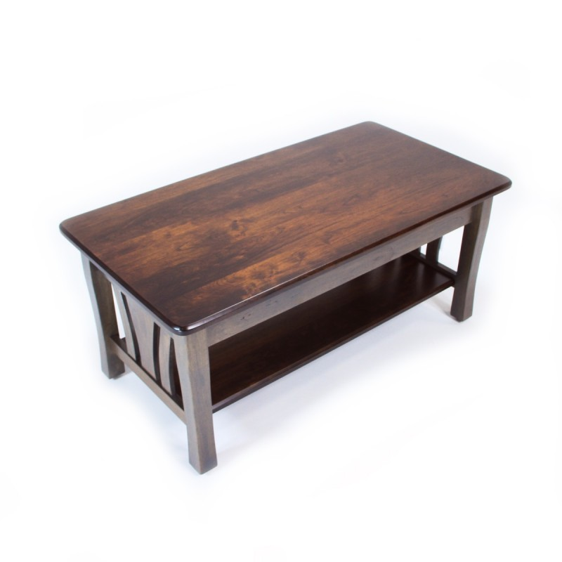 Metro Coffee Table Solid Maple Coffee Table Handcrafted Coffee Table Country Lane Furniture
