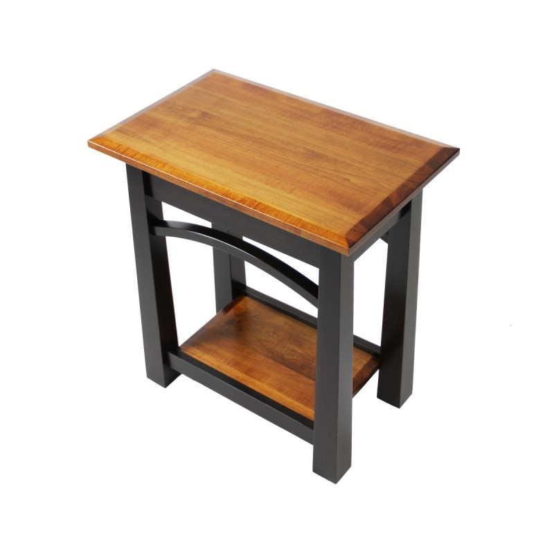 Madison Bow Small End Table Solid Maple End Table