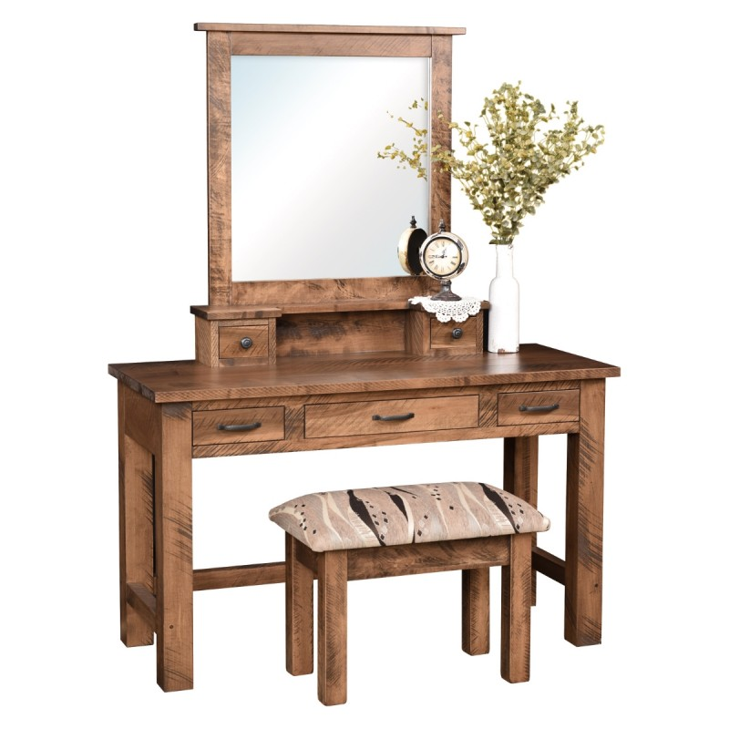 Rustic Jewelry Vanity Maple Wood Vanity Amish Furniture