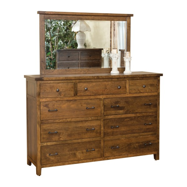 Timber dresser mirror amish timber dresser mirror for Mirror 600 x 600