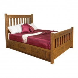 Timber Bed With Storage Rails
