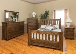 Timber Bedroom Set