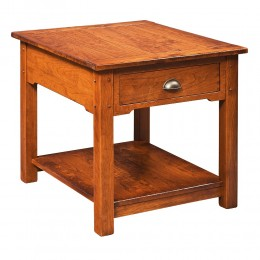 Country Lodge Large End Table