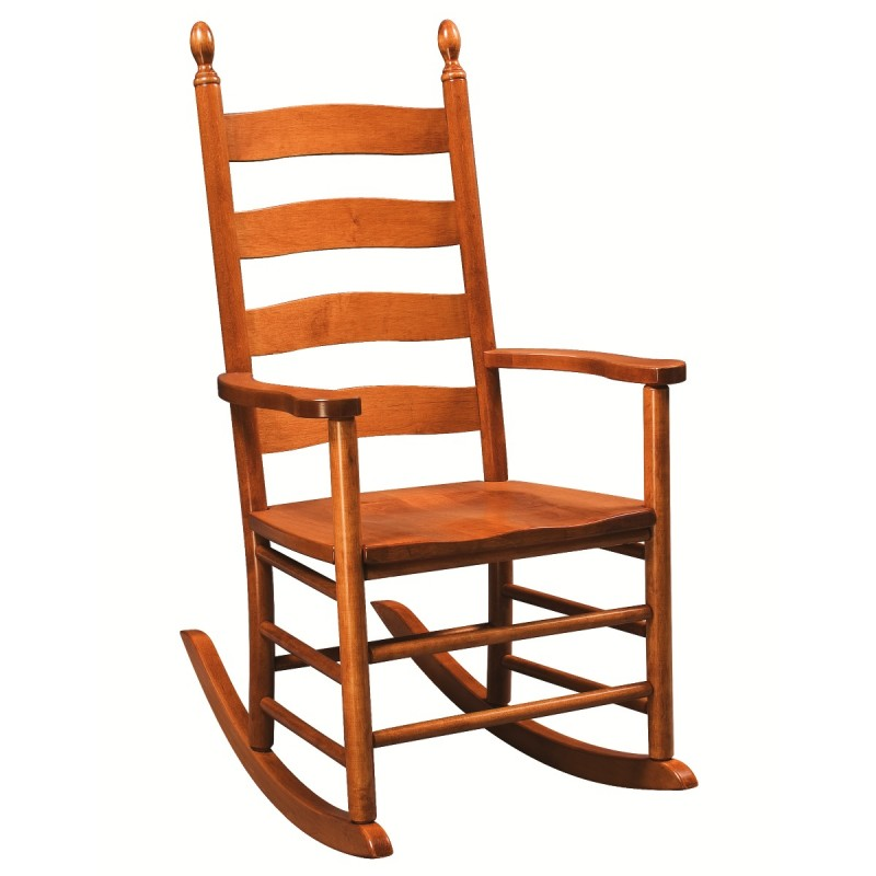 Shaker Ladderback Rocker Amish Rocking Chair Solid