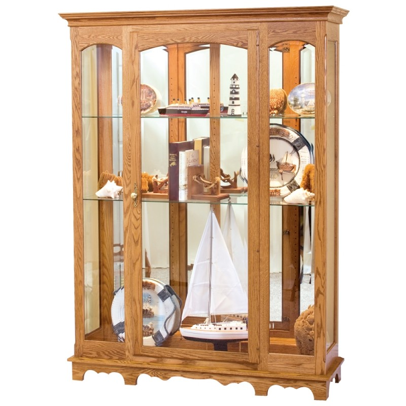 Attractive Large Curio Cabinet ...