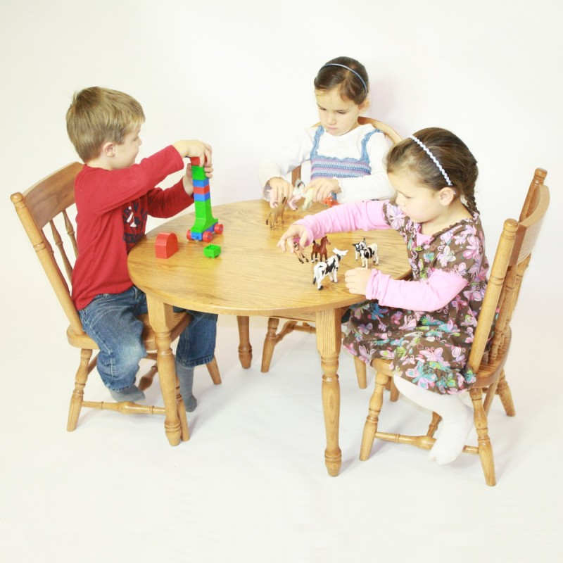 Child S Round Table Set Amish Made Near Lancaster