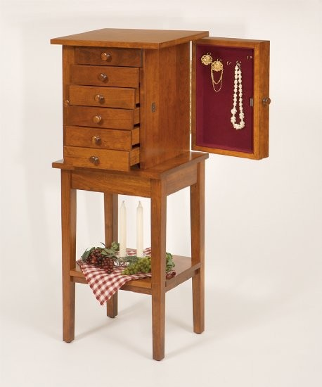 Shaker Jewelry Chest W/stand