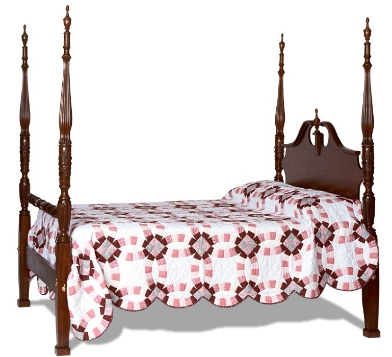 Formal Colonial Rice Bed Amish Handcrafted Solid