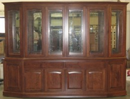 Custom Cherry 6-Door Manchester Canted Hutch