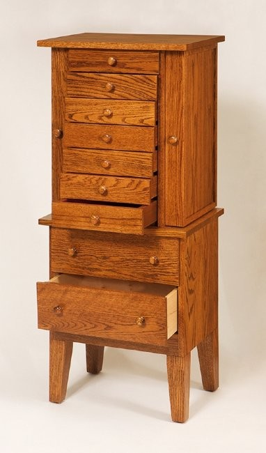 Shaker jewelry armoire amish crafted