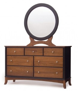 Manchester Double Dresser and Round Mirror