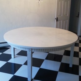 "Custom 70"" Round Table"