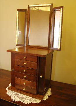 Custom Jewelry Chest W/ Mirror