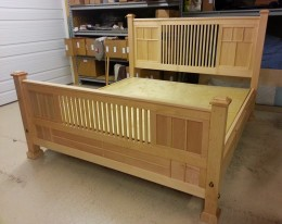 Custom Mission King Size Bed