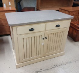 Cottage Kitchen Island With Living Stone Top