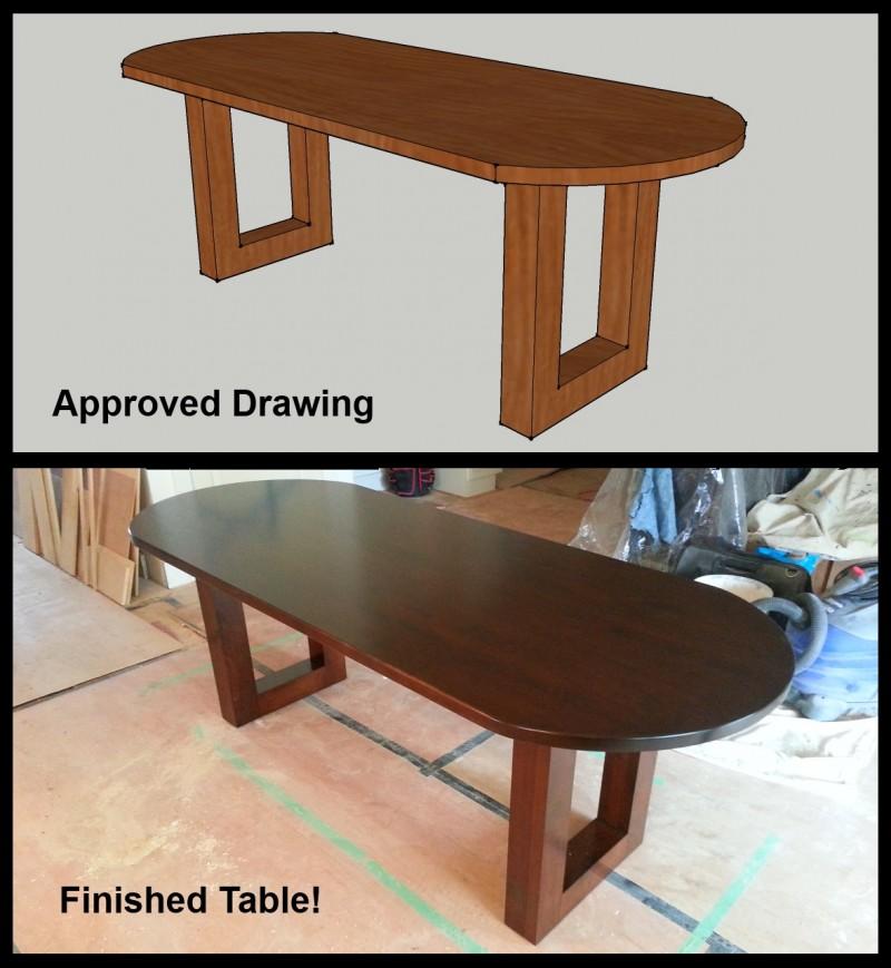 Custom Maple Oval Table Amish