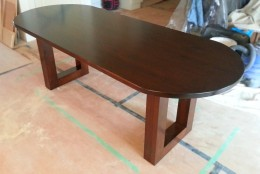 Custom Oval Table