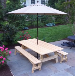 Custom 8' Pine Picnic Table