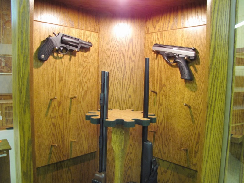 Custom Oak Corner Gun Cabinets - Country Lane Furniture - Country ...