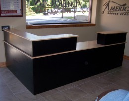 Custom Maple Reception Desk