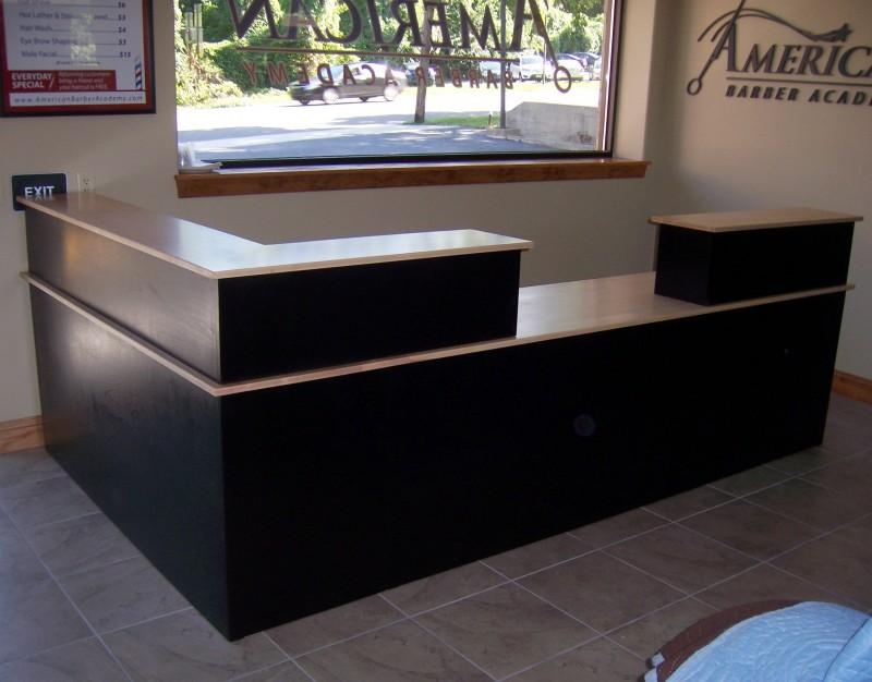 Custom Maple Reception Desk