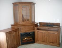 Custom Corner Fireplace Wall Unit