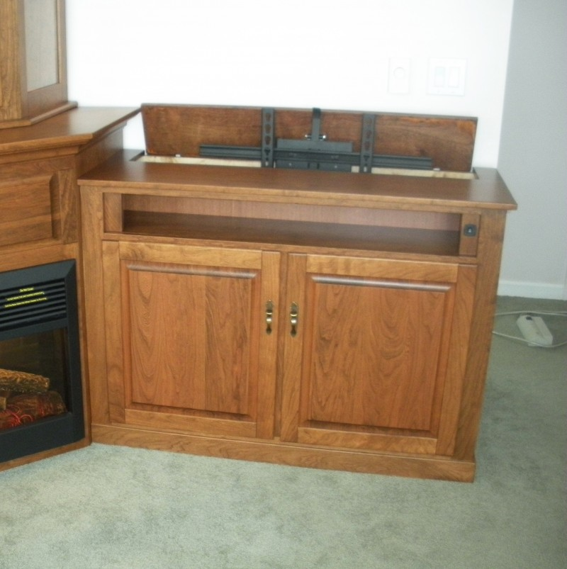 Custom Corner Fireplace Wall Unit Amish