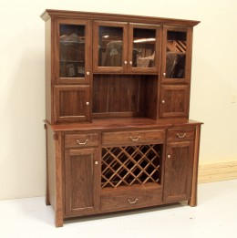 Custom Walnut Wine Hutch