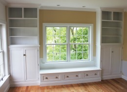 Custom Maple Wall Unit with Bench