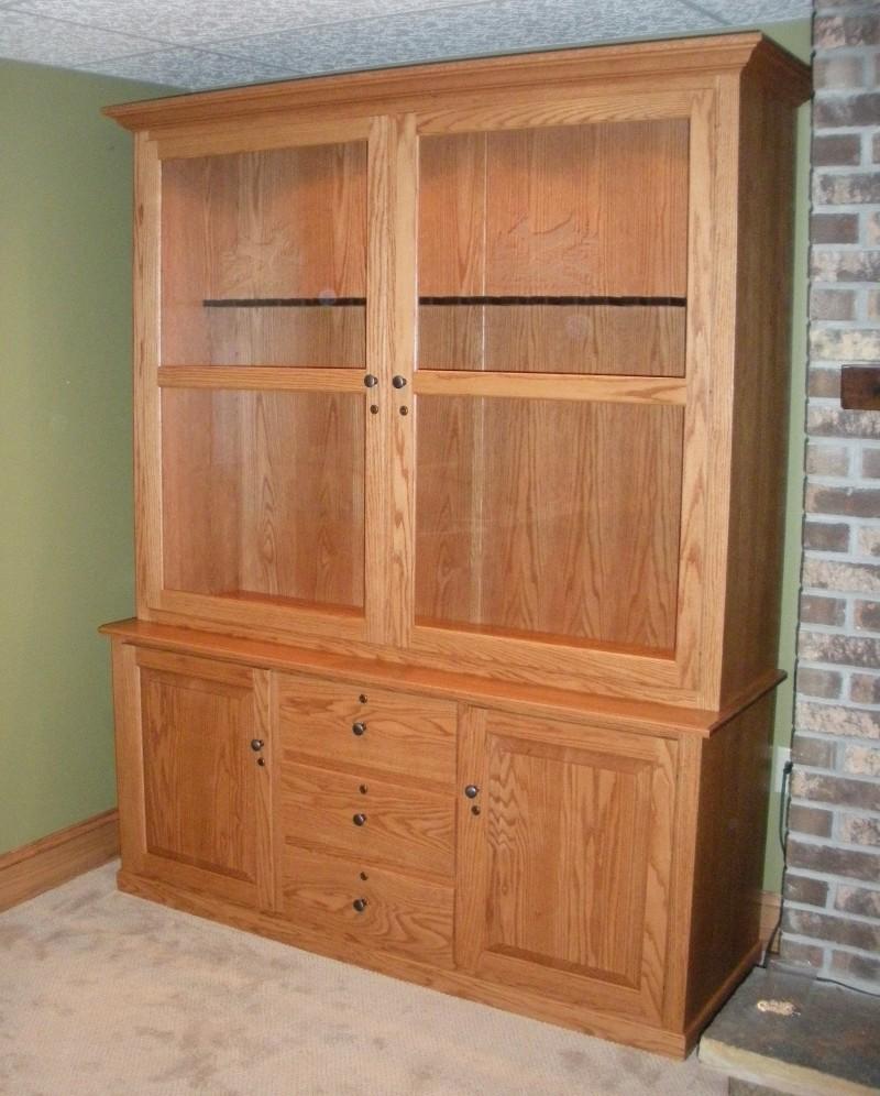Custom oak gun cabinet country lane furniture for Custom wood cabinets