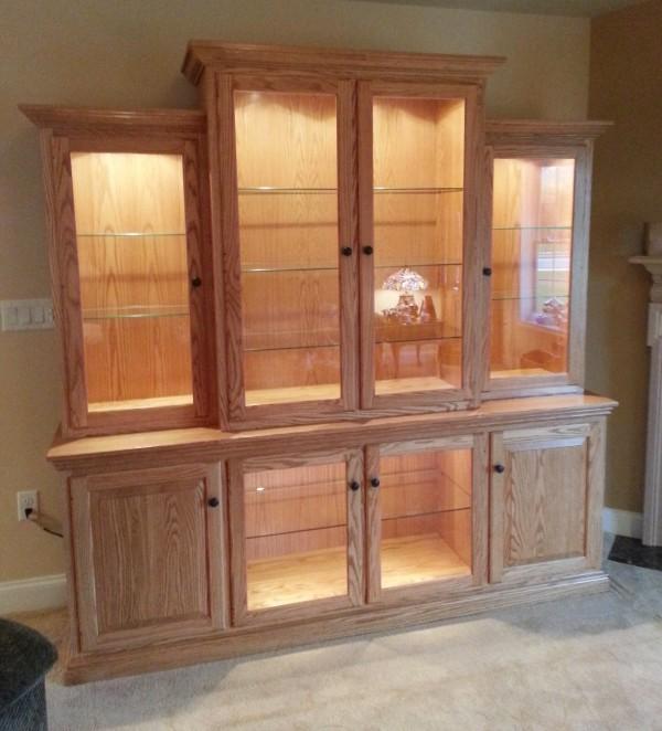 Custom Oak Bookcase Amish Custom Oak Wall Unit Country