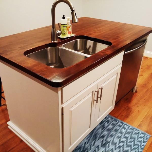 Custom Maple Kitchen Island