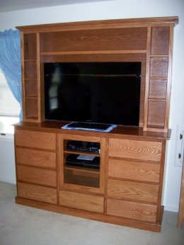 Custom Oak Entertainment Center