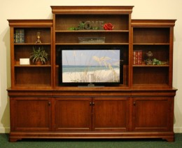 Custom Cherry Chateau Entertainment Center