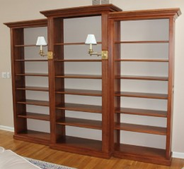 Custom Cherry Open Wall Unit