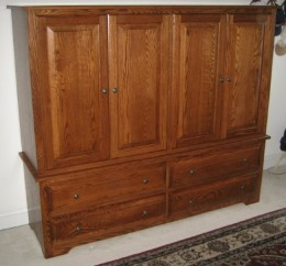 Custom Oak Double Armoire