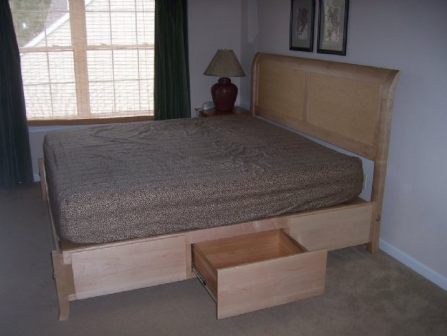 Custom Maple Platform Bed